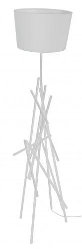 Biała Lampa podłogowa Glenn biały E27 60W