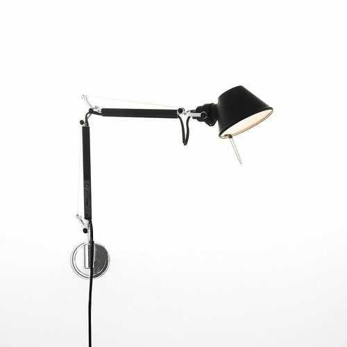Lampa ścienna Artemide Tolomeo Micro Wall A010930 czarna