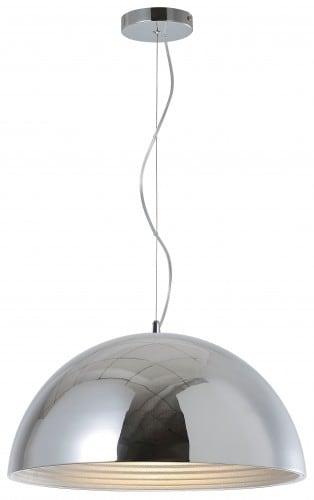 Loftowa lampa wiszaca mads chromowana e27 60w l