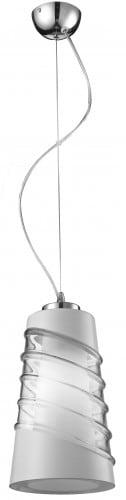 Lampa wisząca Crister chrom/ biały/ transparentny E27 60W