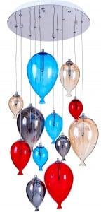 Lampa wisząca dla dziecka balony - Balloon multikolor 160cm/45cm 12xG4 20W