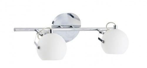 Podwójny biały Kinkiet Ida chrom/ biały LED 3W
