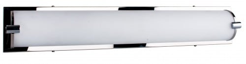 Chromowany Kinkiet Romy/biały LED 27W