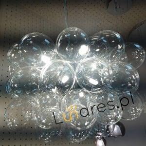 Nowoczesna Lampa wisząca Grape chrom/ srebrny/ transparentny G9 28W small 1