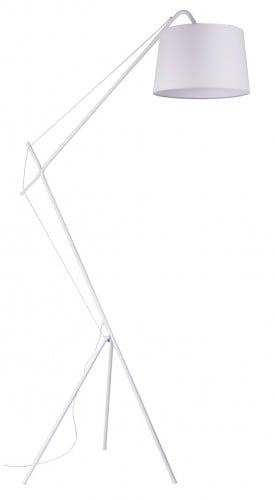 Biała Lampa podłogowa Alvin E27 60W