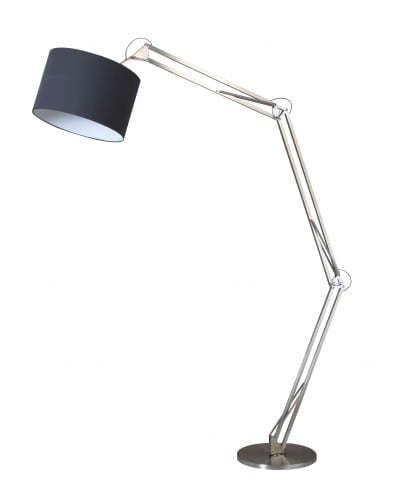 Chromowana Lampa podłogowa Mirani chrom/ czarny E27 60W
