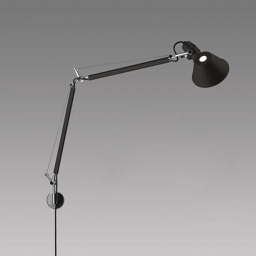 Lampa ścienna Artemide Tolomeo Mini Wall A005940 czarna