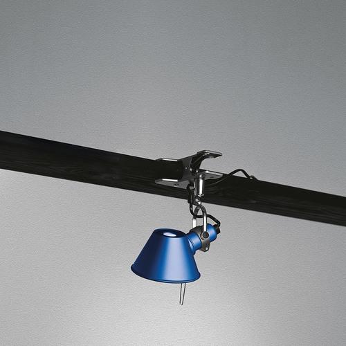 Przenośna lampa Artemide Tolomeo Micro Pinza A010850 niebieska