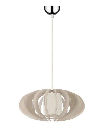 Lampa wisząca Keiko brzoza bielona/ kremowy E27 60W