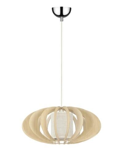 Lampa wisząca Keiko 440 brzoza naturalna/ kremowy E27 60W
