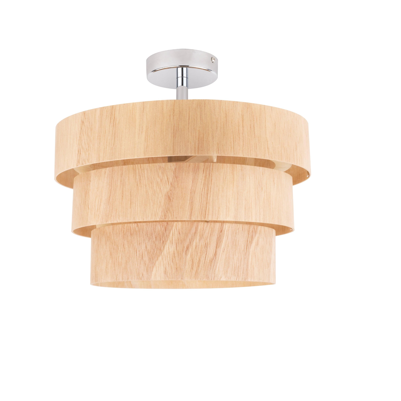 Drewniana Lampa wisząca Kazuki Wood dąb E27 60W