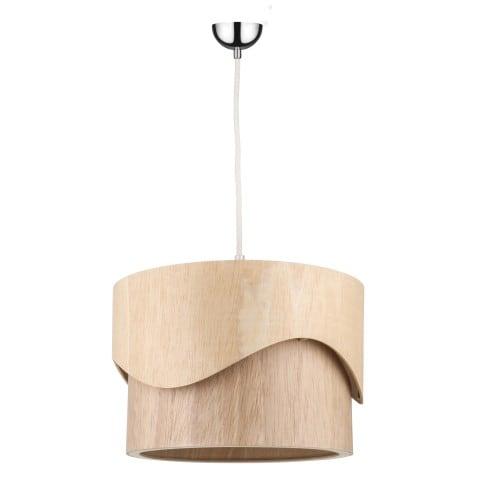 Drewniana lampa wisząca Akira Wood dąb E27 60W