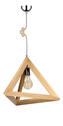 Industrialna Drewniana Lampa Wisząca TRIGONON