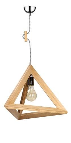 Lampa drewniana TRIGONON bez klosza