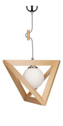 Lampa wisząca Trigonon Vertical Ball buk/chrom/czarno-biały E27 60W