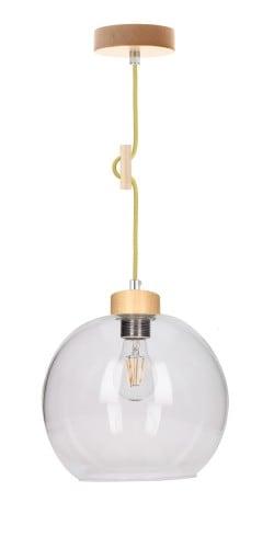 Lampa wisząca Svea brzoza/oliwkowy E27 60W