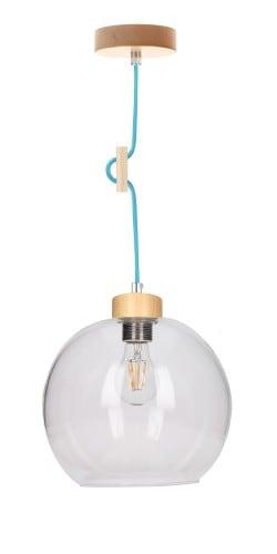 Lampa wisząca Svea brzoza/petrol E27 60W