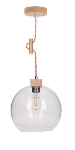 Industrialna transparentna lampa wiszaca svea l