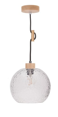Lampa wisząca Rozpraszająca Svea buk/antracyt E27 60W