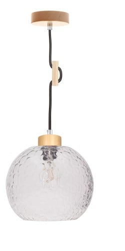 Lampa wisząca Svea brzoza/antracyt E27 60W