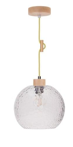 Lampa wisząca Z Ozdobnym Kablem Svea Rozpraszająca buk/oliwkowy E27 60W