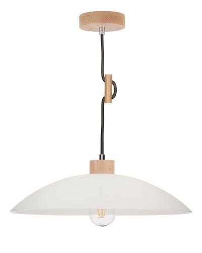 Lampa wisząca Jona buk/antracyt E27 60W