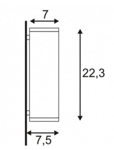 Kinkiety Kinkiet SLV Spotline THEO WALL aluminium szczotkowane 1