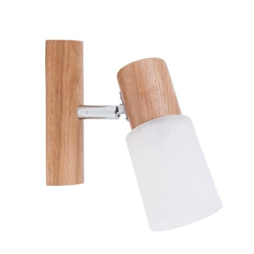 Kinkiet Kira Wood dąb/chrom/biały E14 40W