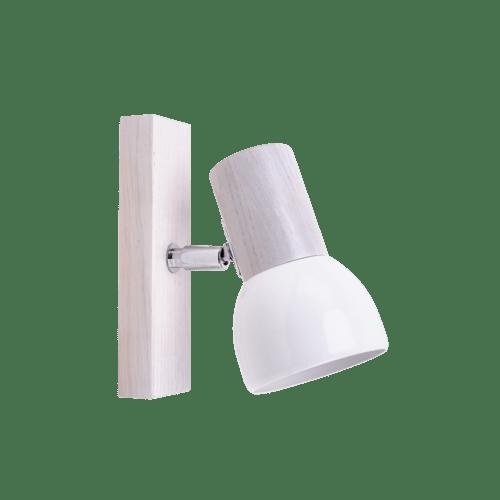 Kinkiet Svenda biały dąb/chrom/biały E27 60W
