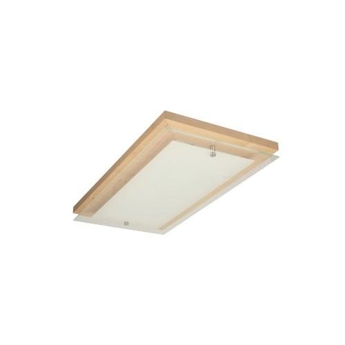 Plafon Finn brzoza/chrom/biały LED 10W