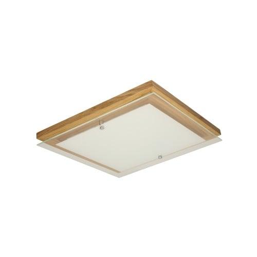 Plafon Finn dąb olejowany/chrom/biały LED 14W