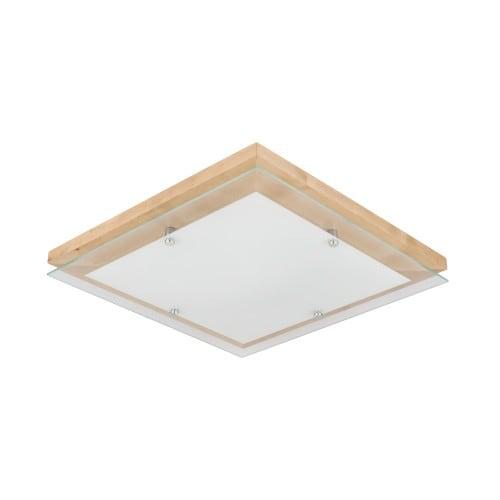 Plafon Finn brzoza/chrom/biały LED 24W