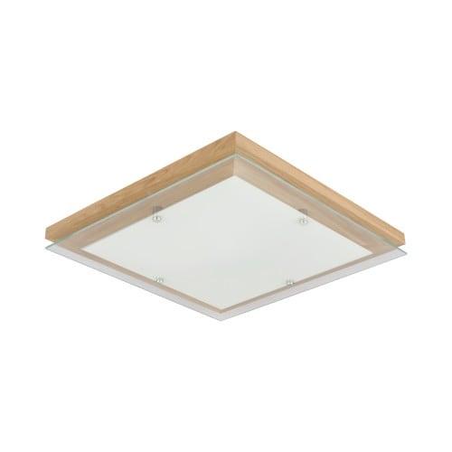 Plafon Finn dąb olejowany/chrom/biały LED 24W Kwadratowy