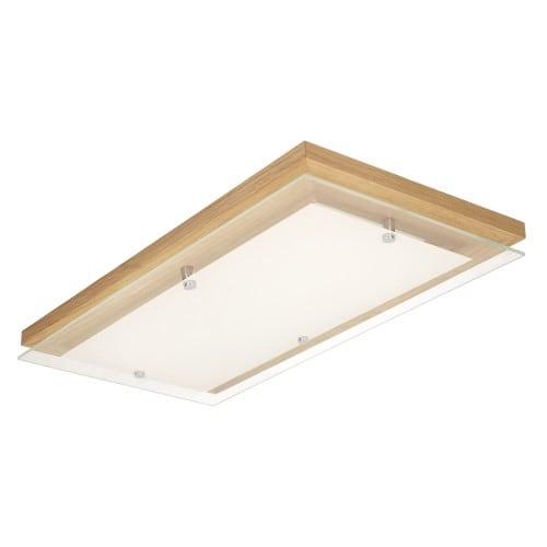 Plafon Finn dąb/chrom/biały LED 24W