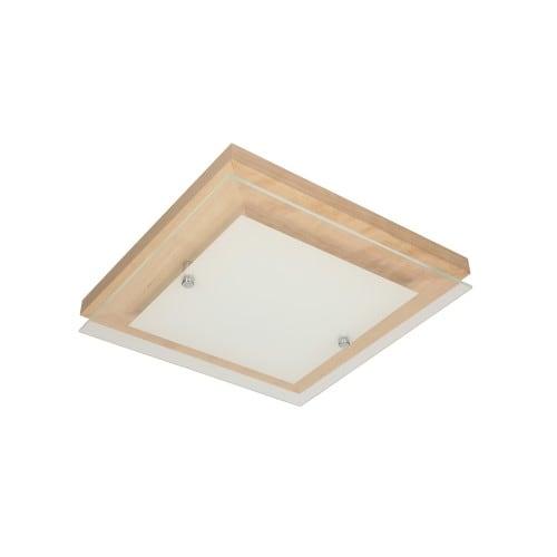 Plafon Finn brzoza/chrom/biały LED 2,4-14W