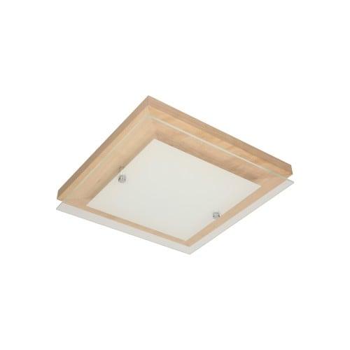 Plafon Finn dąb/chrom/biały LED 2,4-14W