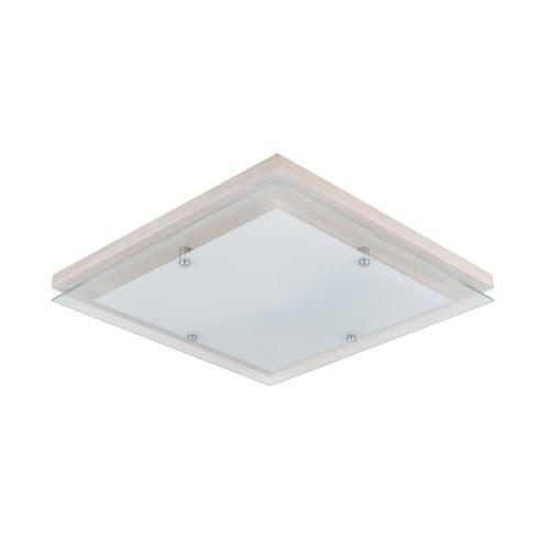 Plafon Finn dąb bielony/chrom/biały LED 2,7-24W