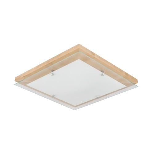 Plafon Finn brzoza/chrom/biały LED 2,7-24W