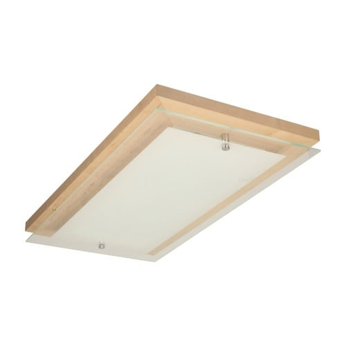 Plafon Finn brzoza/chrom/biały LED 3,2-24W