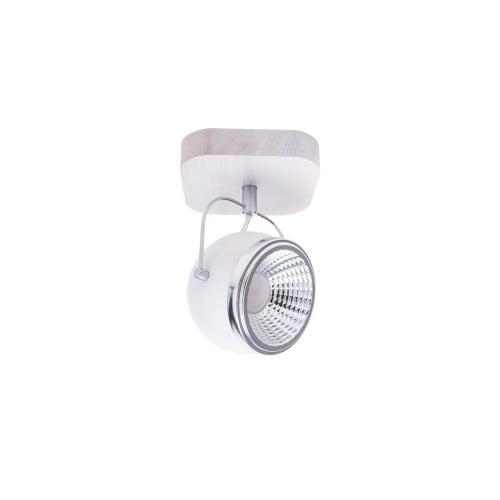 Kinkiet Ball Wood dąb bielony/chrom/biały LED GU10 5,5W
