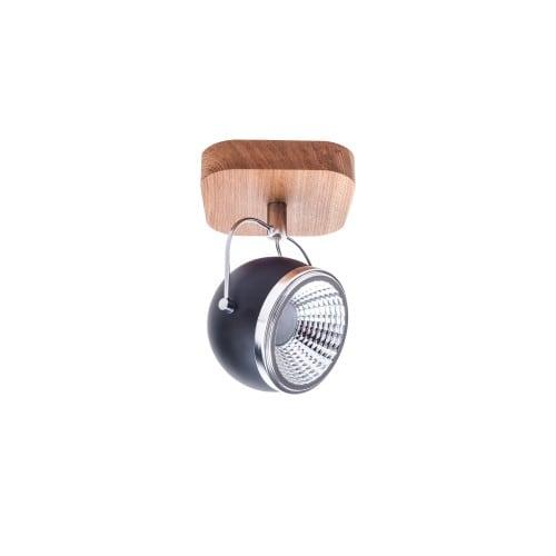 Kinkiet Ball Wood dąb olejowany/chrom/czarny LED GU10 5,5W