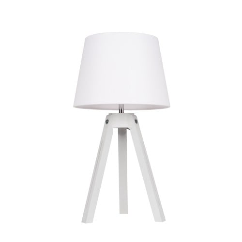 Lampa stołowa Tripod biały/chrom/biały E27 60W