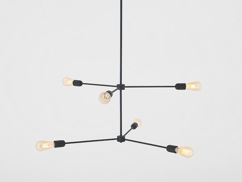 Lampa wisząca TRISO 6 - czarny
