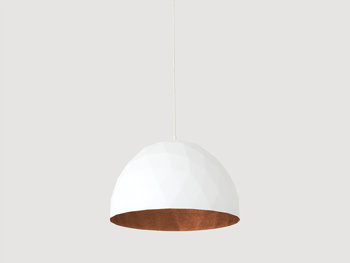 Lampa wisząca LEONARD L - miedziano-biały