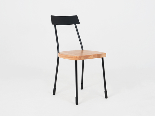 Krzesło LENA - czarny, naturalny