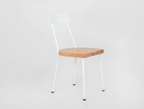 Krzesło LENA - biały, naturalny