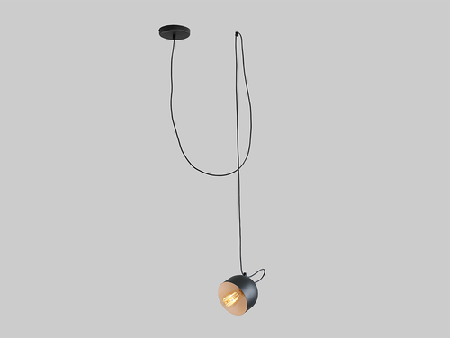 Lampa wisząca POPO 1 - czarny