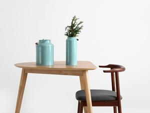 Krzesło retro do biurka KUBRIK, orzech, karbon small 1