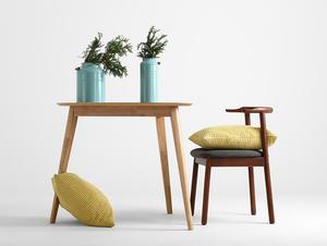 Krzesło retro do biurka KUBRIK, orzech, karbon small 2