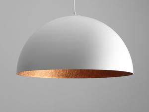 Lampa wisząca LORD 70 - miedziano-biały small 0